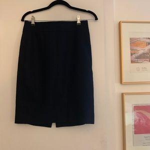 J Crew Super 120s Suiting Navy Skirt 0